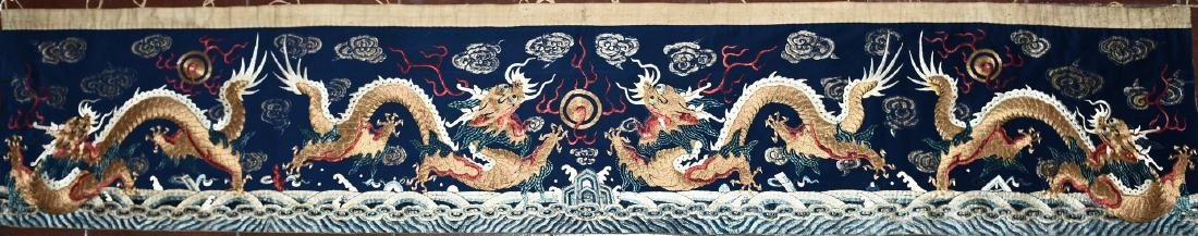 A CHINESE EMBROIDERY OF DRAGON