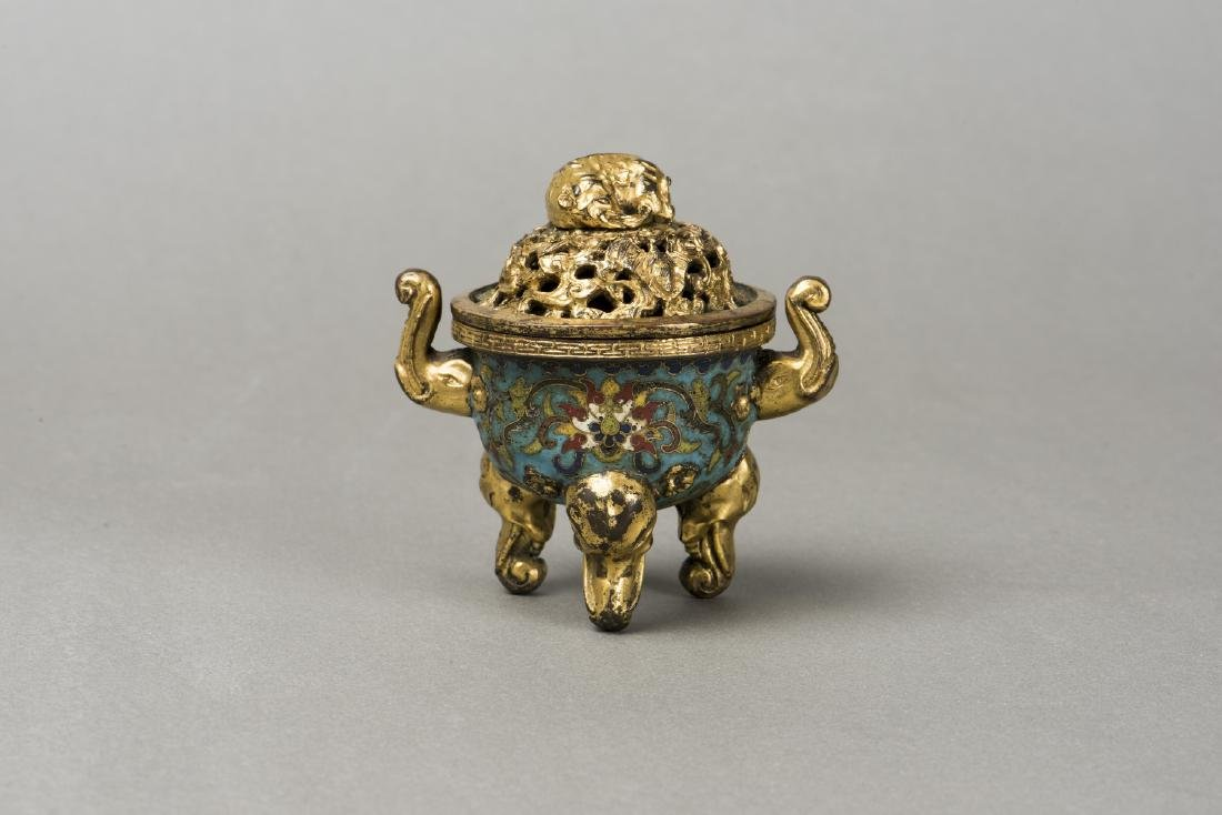 A CLOISONNE CENSER, QING DYNASTY QIANGLONG PERIOD