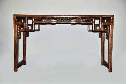 A CHINESE HUANGHUALI PAINTIG TABLE