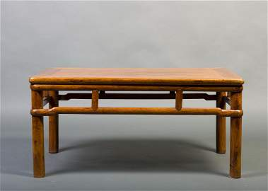 A SMALL HUANGHUALI SQUARE TABLE