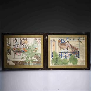 A PAIR OF CHINESE PAINTINGS
