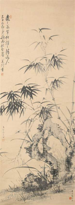 A CHINESE SCROLL PAINTING BY SONG MEI LING