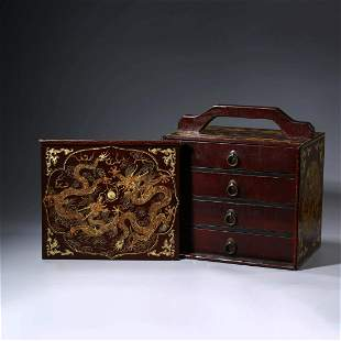 A SET OF CHINESE IMPERIAL INK AND BOX INLAID WITH