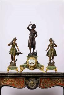 A Western Figural Clock