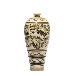 A Cizhou Kiln Painted Meiping Vase