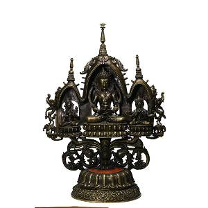 A Set Of Bronze Statue Of Amitayus