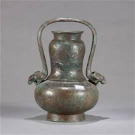 A Chinese Bronze Ritual Vessel YOU