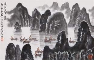 A Chinese LiJiang View Painting, Li Ke Ran Mark