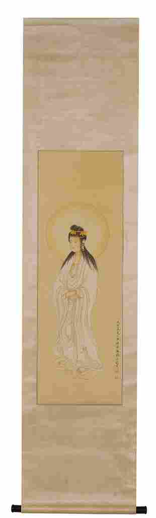 A Chinese Scroll Painting by Mei Lan Fang