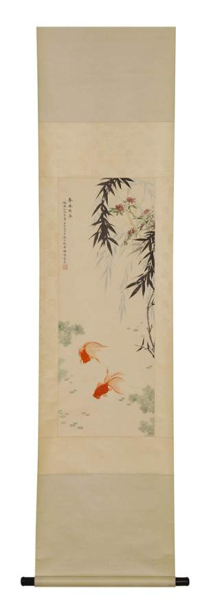 A Chinese Scroll Painting Attributed to Mei Lan Fang