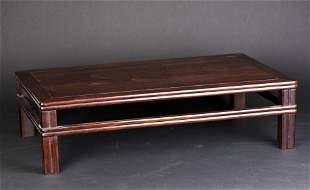 A HARDWOOD 'KANG' TABLE, KANGZHUO
