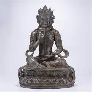 A Chinese Bronze Avalokiteshvara Statue