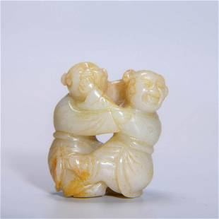 CARVED JADE TWO BOYS