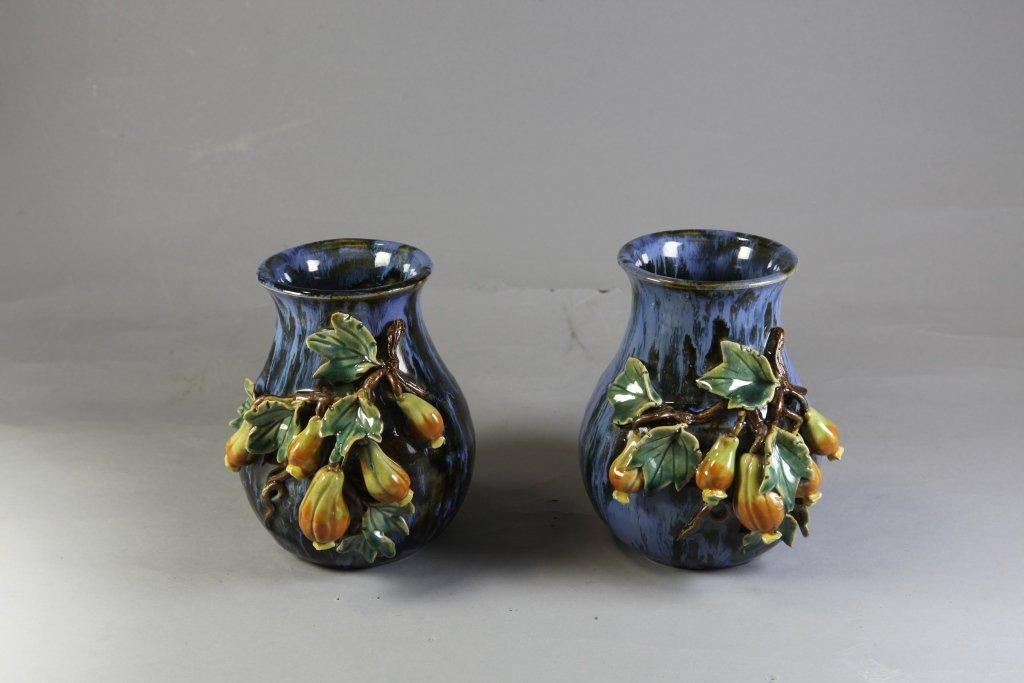 2: Authentic Glazed Ceramic Vases Pair
