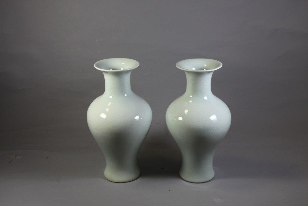 6: Glazed Porcelain Vases Pair