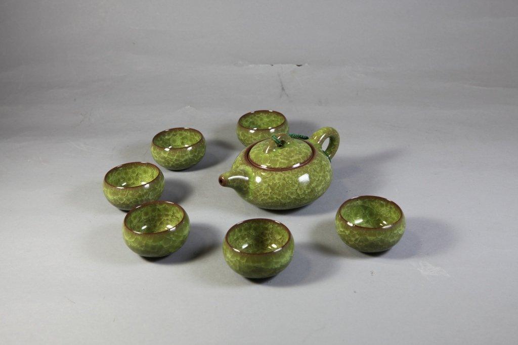 7: Glazed Spinach Green Tea Set