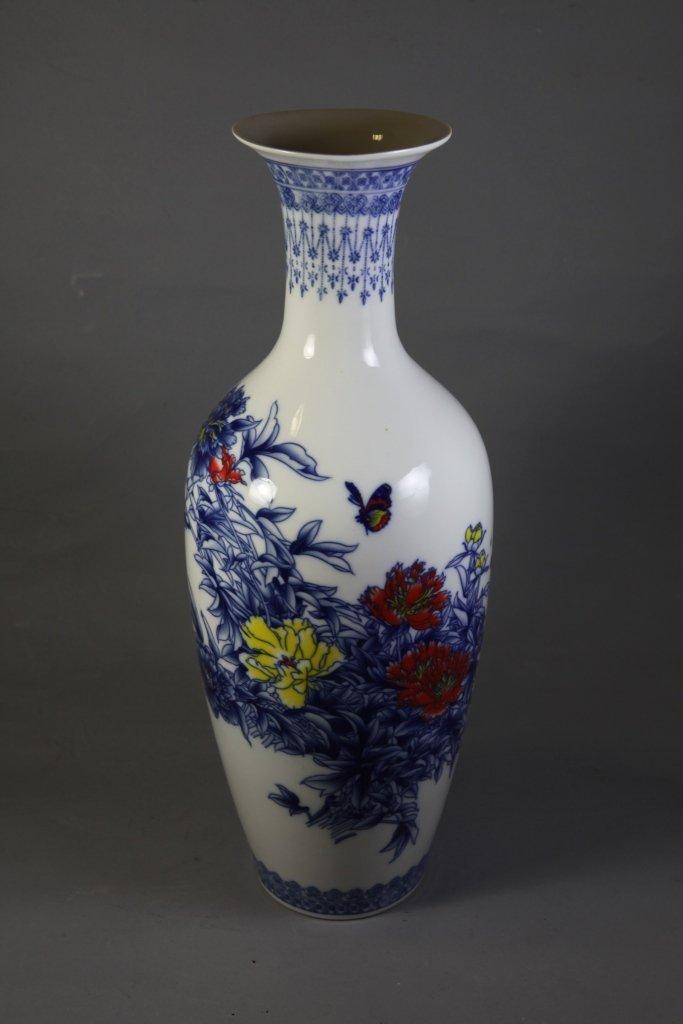 13: White and blue underglazed vase
