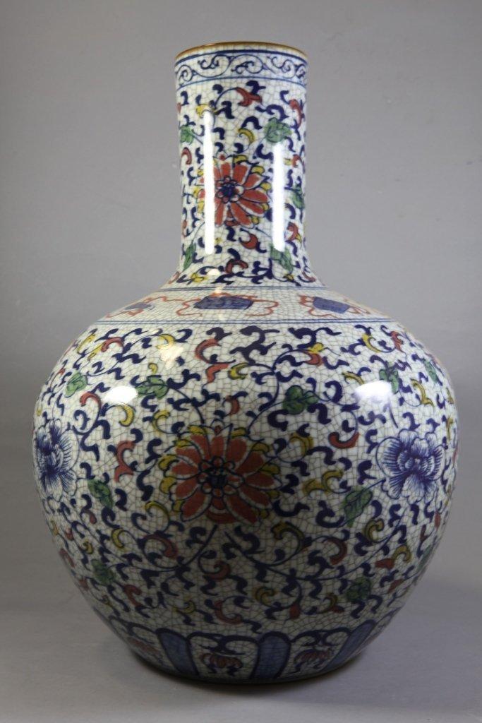 15: Vintage Blue and White Flower Vase
