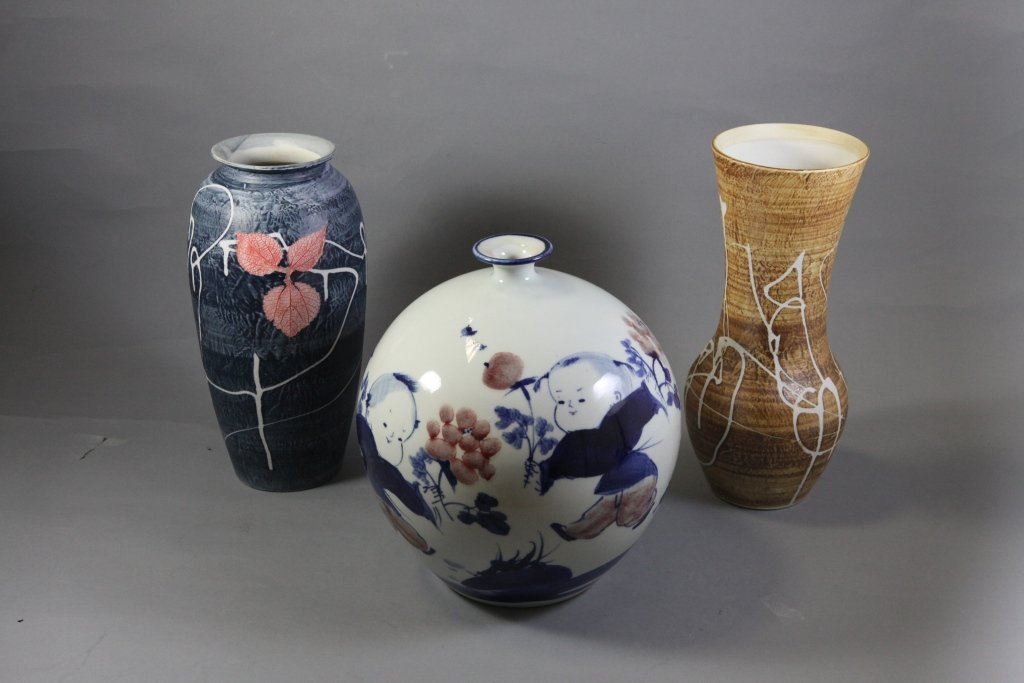 16: A group of three Flower Vases