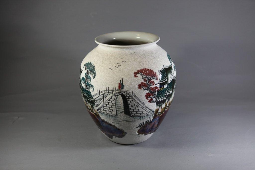 18: Hand Painted 'Oriental Venetian Design' Vase