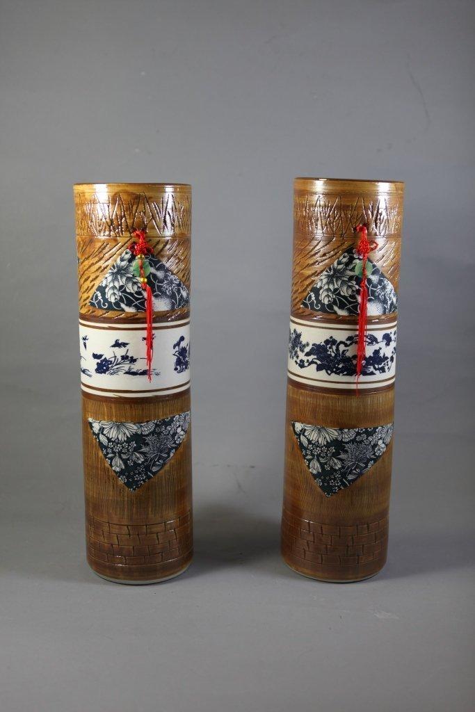 20: A pair of Modern Art Vases