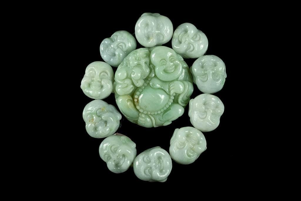 21: Jadeite Bracelet & Jadeite Buddha Pendant