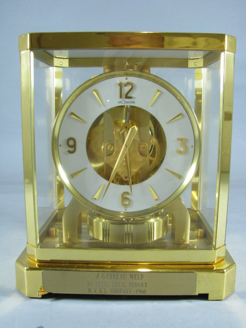 601: Vintage Le Coultre Solid Brass Clock