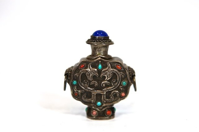 611: Intricately Crafted Metal Snuff Bottle