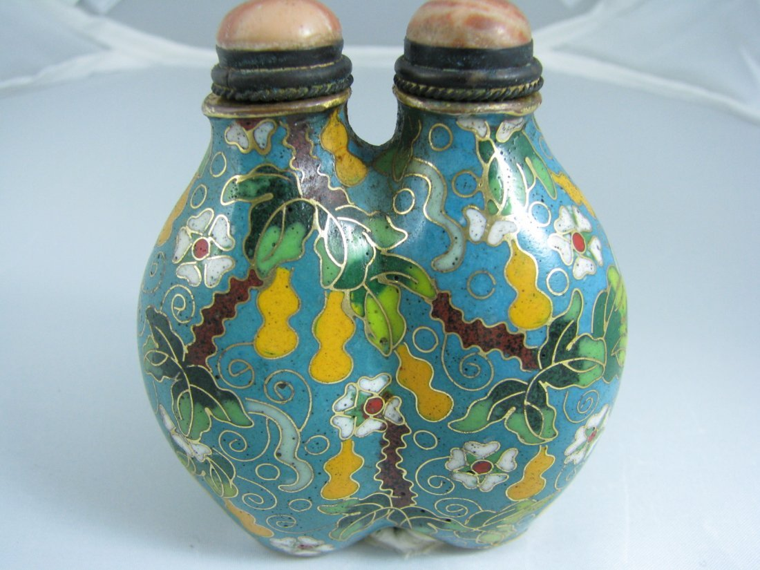 620: Beautiful double lidded Snuff Bottle