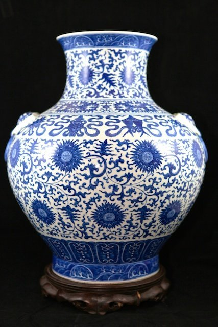 711: Blue & White Porcelain Vase