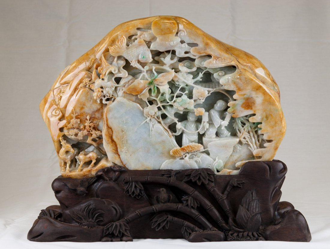 738: A rare well-carved Jadeite Mountain