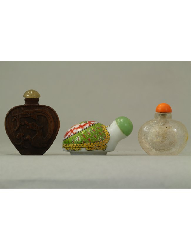 1: Chinese Snuff Bottle Collection of Three