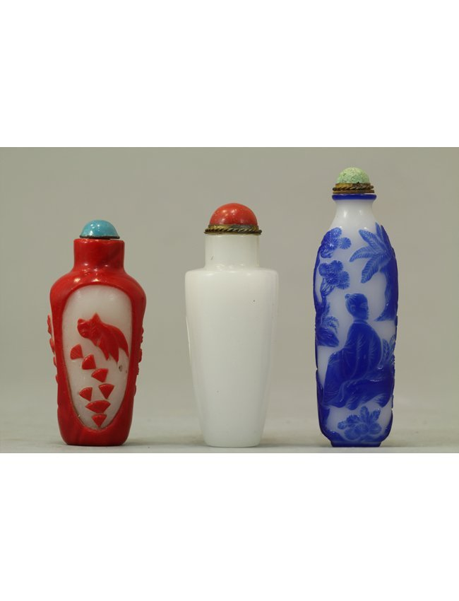 3: Chinese Snuff Bottle Collection of Three