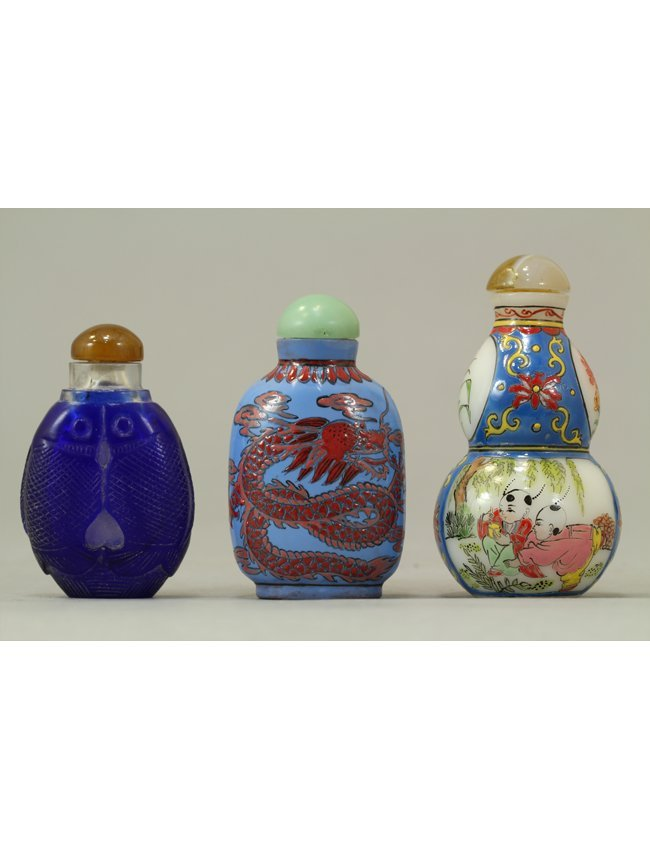 5: Chinese Snuff Bottle  Collection of Three