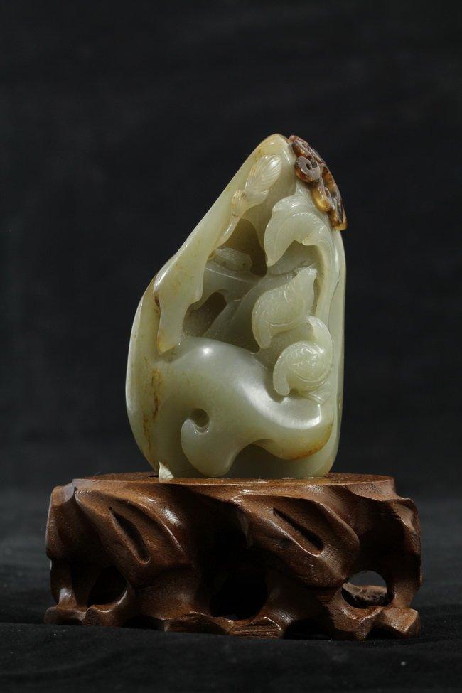 321: Nephrite White Jade of Carved Birds