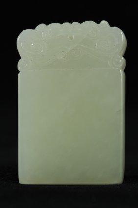 324: White jade pendant
