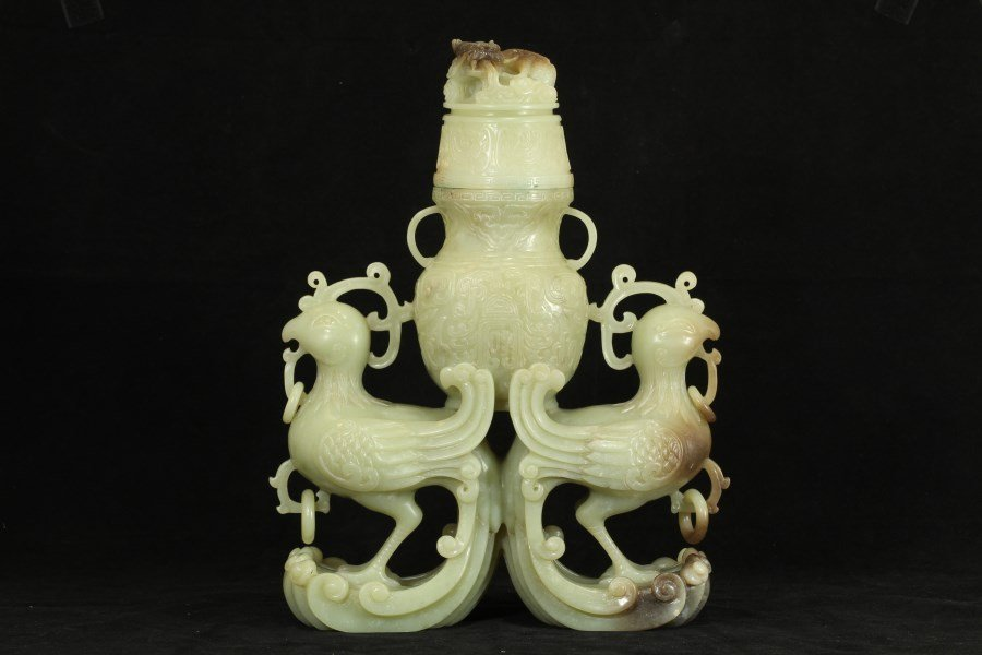 Intricately Carved Nephite Jade of an Honored Statue