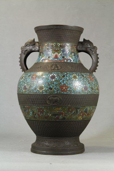 Chinese Antique Cloisonne Vase