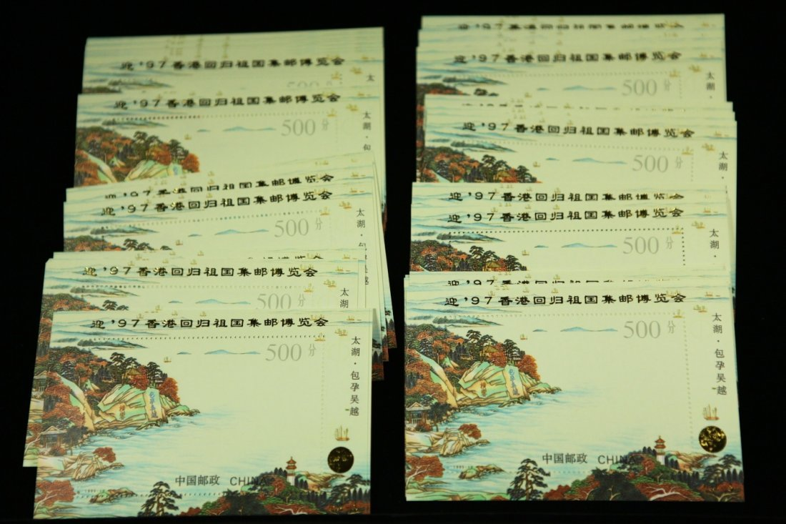 One Stack (80 sheets) of unused Hong Kong stamps ( Seri