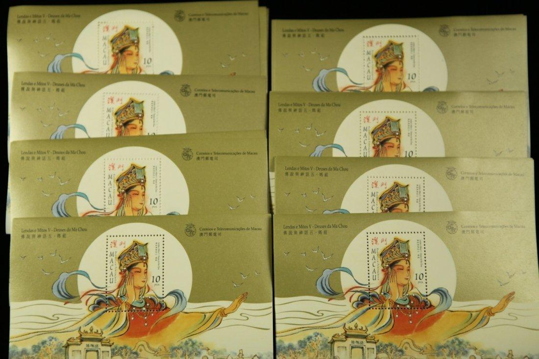 One Stack (70 sheets) of Unused Macau Leques e Mitos V-