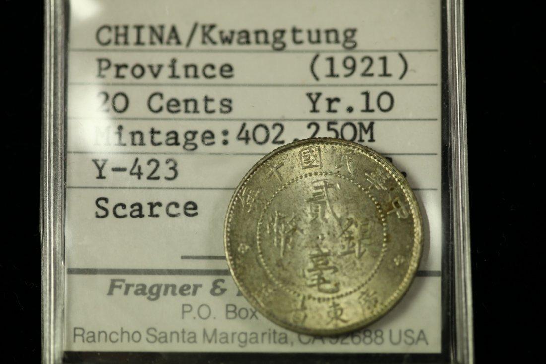 CHINA-KWANGTUNG Coin 10 20