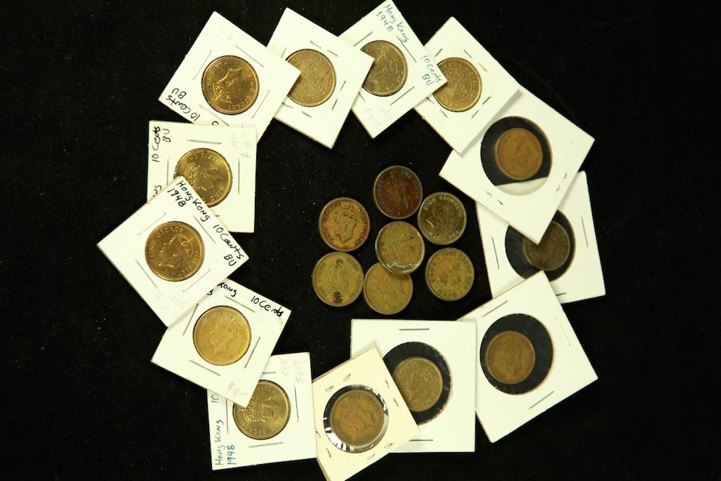 king George the sixth HK coins 1948,1949,1950 10