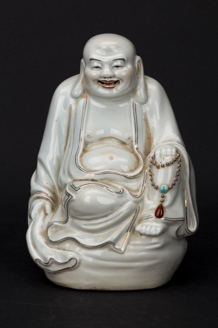 Chinese Blanc de Chine Dehua porcelain Buddha statue