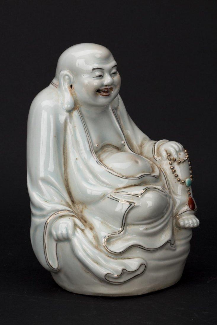 Chinese Blanc de Chine Dehua porcelain Buddha statue - 2