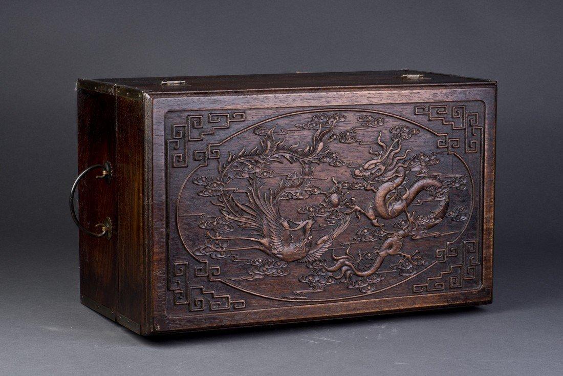 Chinese Hardwood Jewel Box