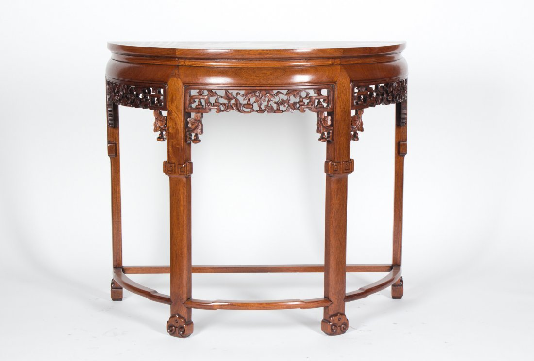 A CHINESE HUANGHUALI OR HARDWOOD TABLE