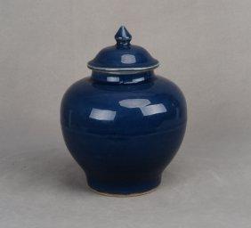 A Wanli Cobalt-glaze Porcelain Jar