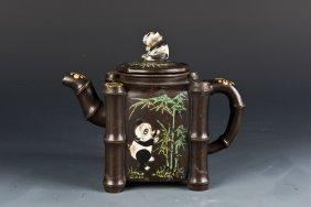 Zisha Panda Teapot