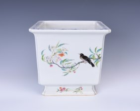 Chinese Famille Rose Porcelain Flower Pot
