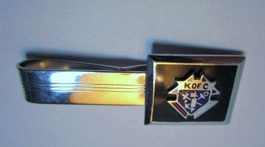 KNIGHTS OF COLUMBUS STERLING TIE BAR